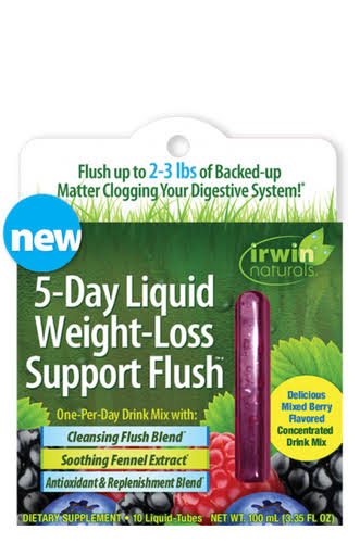 Irwin Naturals 5-Day Liquid Weight-Loss Support Flush 10 Liquid -Tubes