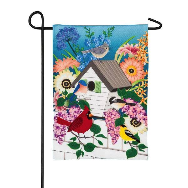 Evergreen Linen Garden Flag - Song Bird Floral