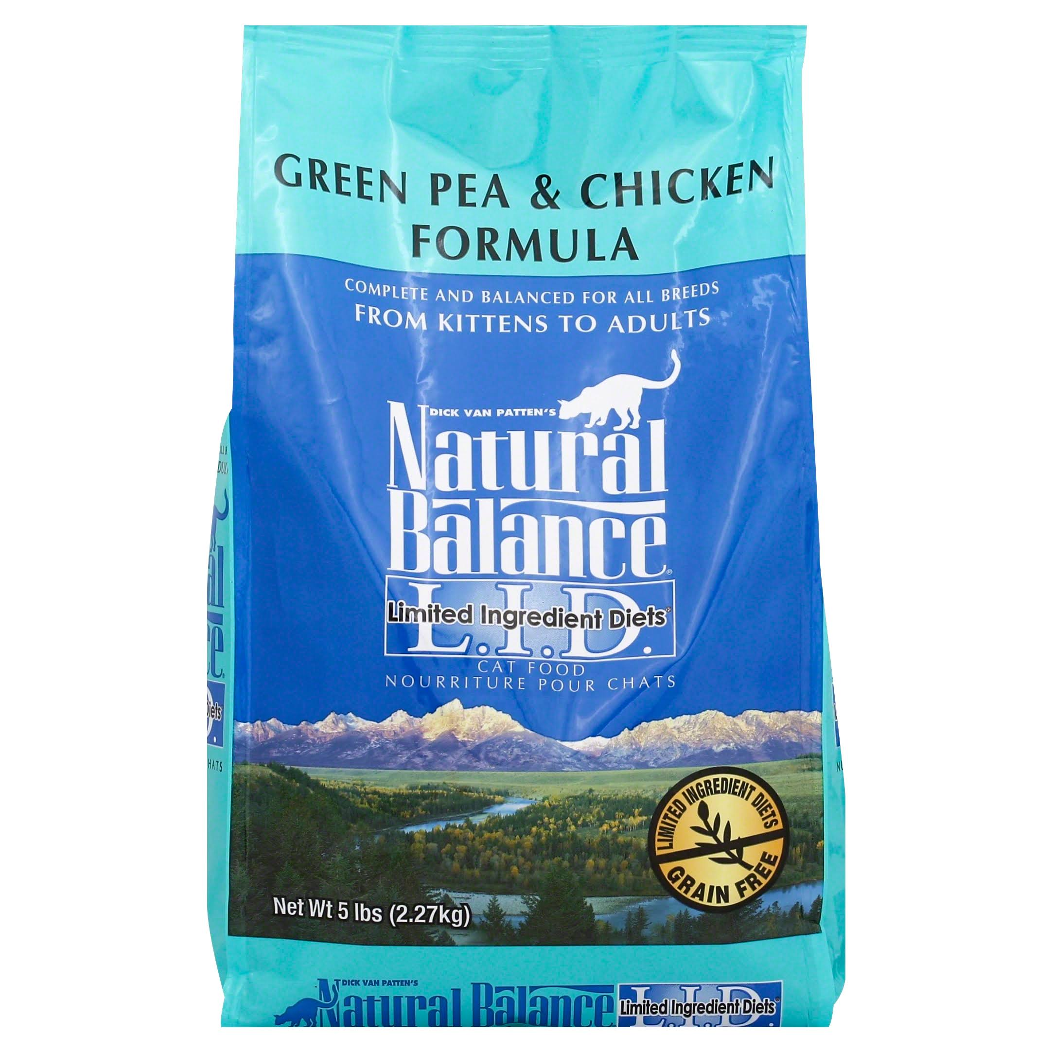 Natural Balance Dry Cat Food - Green Pea & Chicken, 5lb