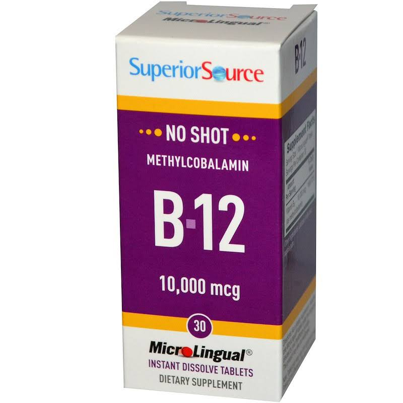 Superior Source Methylcobalamin B12 Vitamin Tablets - 30 Tablets