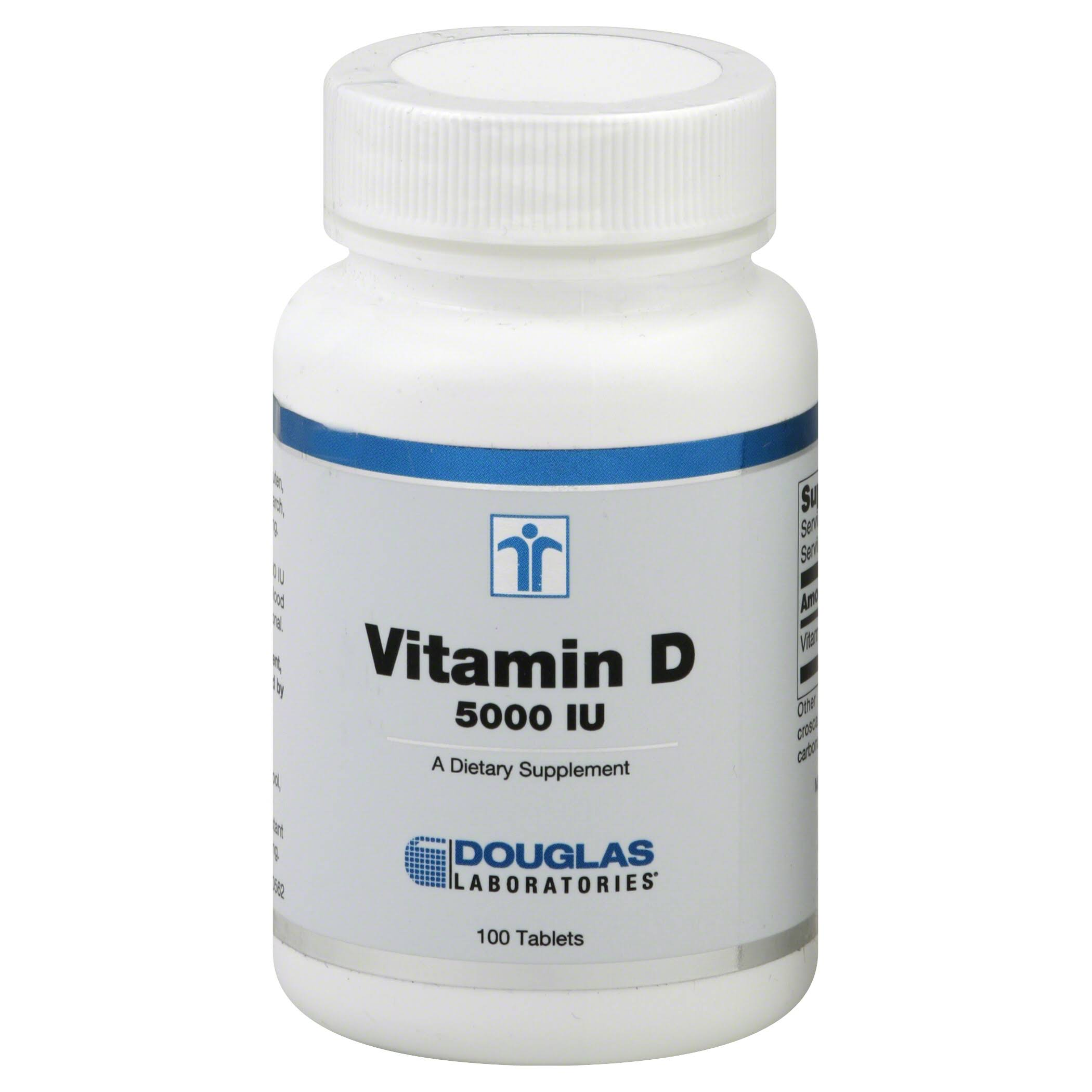 Douglas Laboratories Vitamin D Supplement - 5000 IU, 100 Tablets