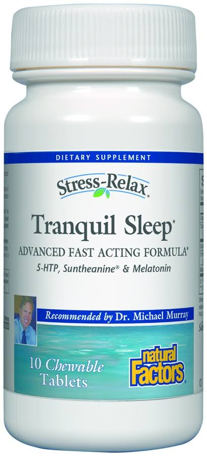 Stress-Relax Tranquil Sleep Natural Factors - 10 Chewable Tablets