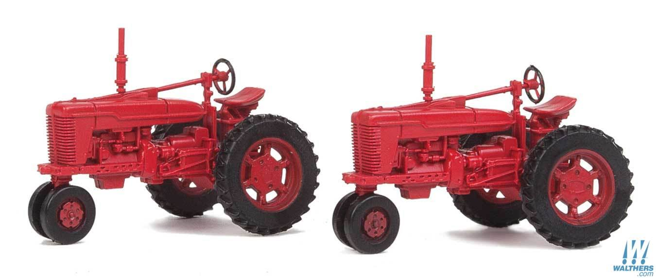 Walthers - Farm Tractor 2-Pack - Assembled - Red - 949-4160