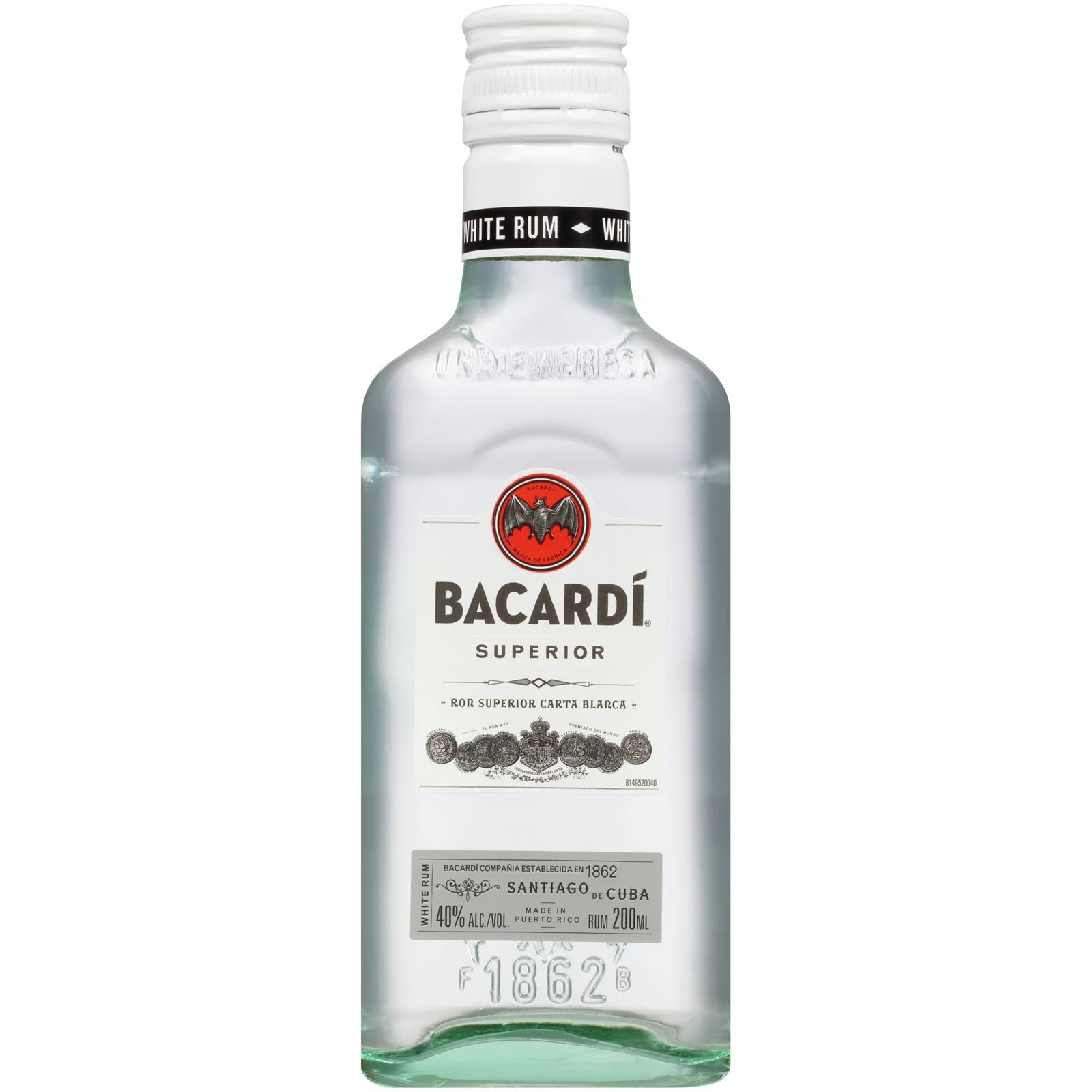 Bacardi Rum, White - 200 ml