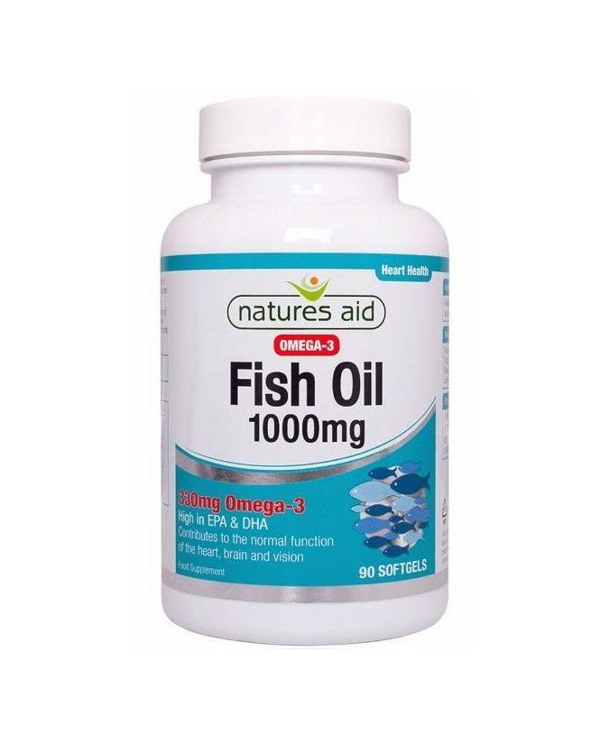 Natures Aid Fish Oil Capsules - 1000mg, x90