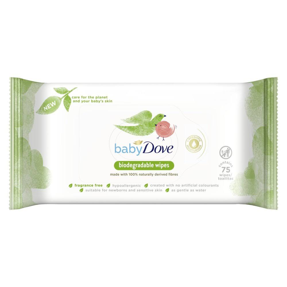 Baby Dove Fragrance Free 75 Pack