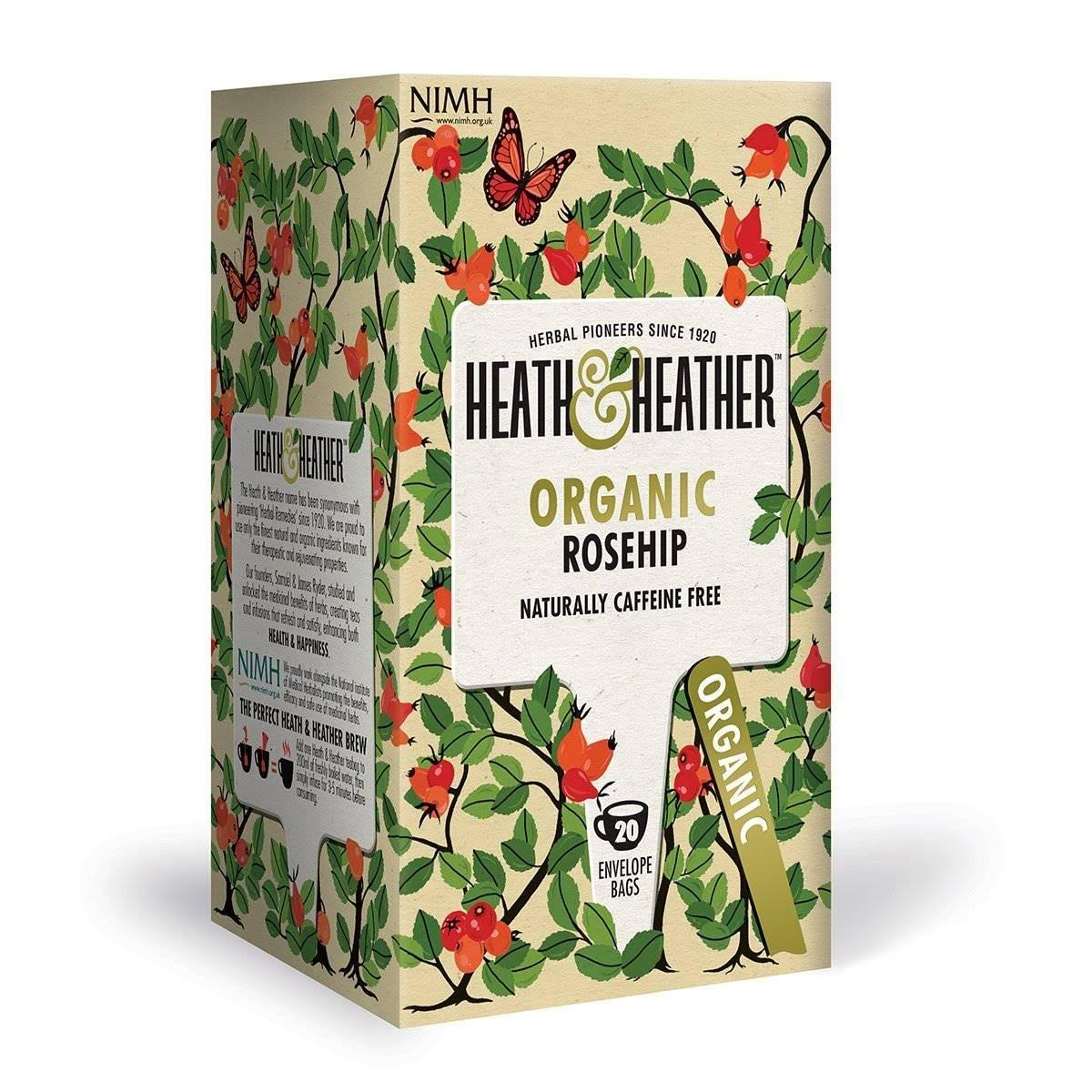 Heath & Heather Organic Wild Rosehip | 20 Bags