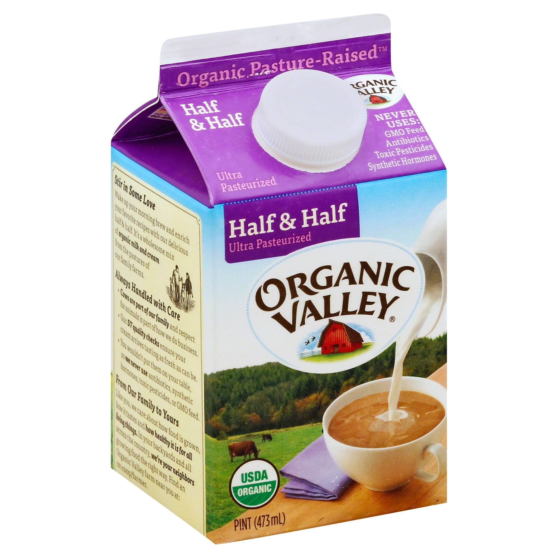 Organic Valley Half & Half Ultra Pasteurized Milk
