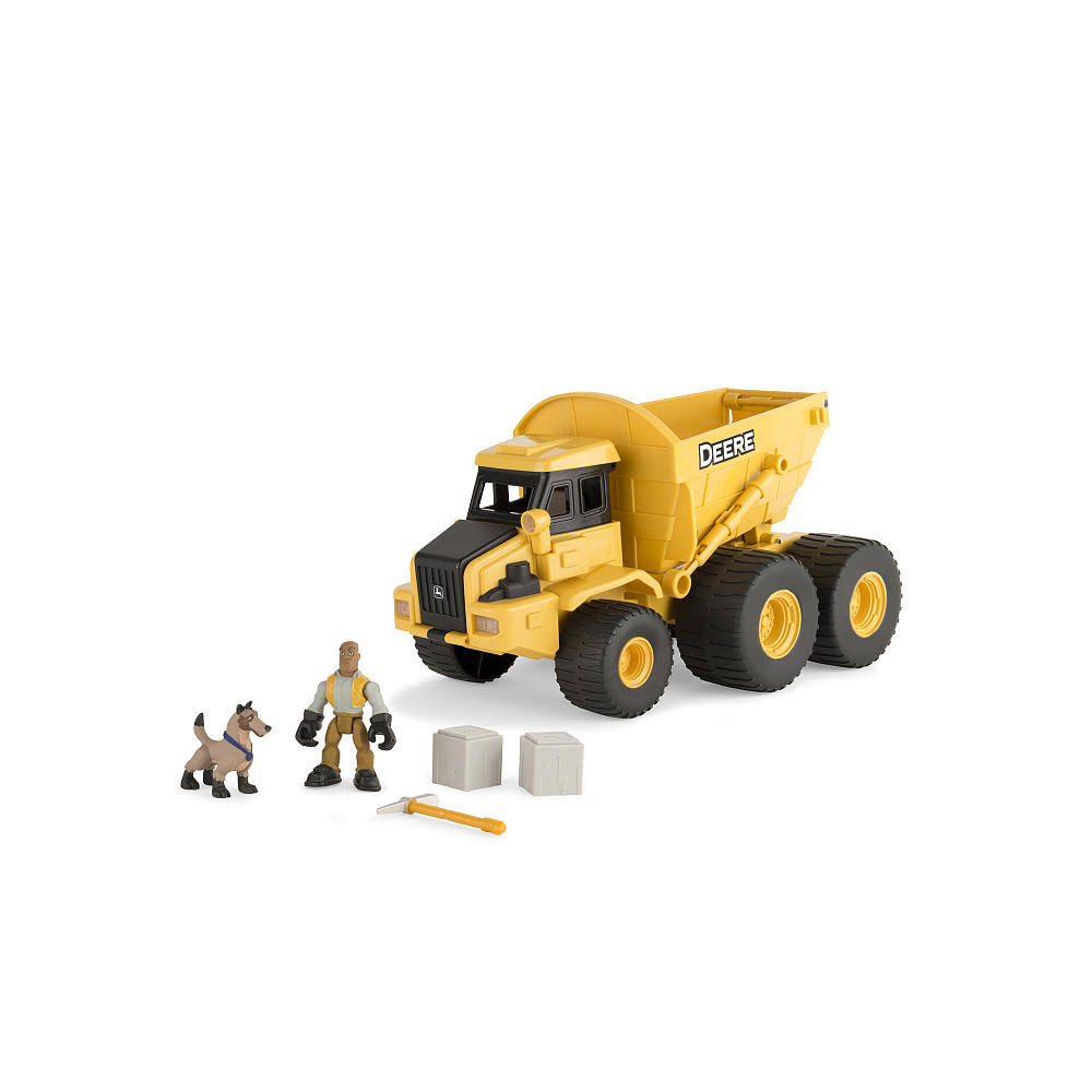 Tomy John Deere Gear Force Earth Moving Dump Truck Playset