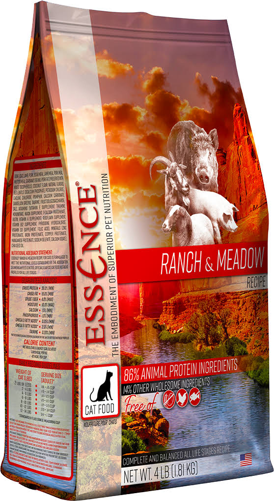 Essence Ranch & Meadow Dry Cat Food 4 lb