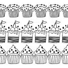 Cake Decorating Books Free by Black And White Decorative Border Of Cakes For Coloring Books