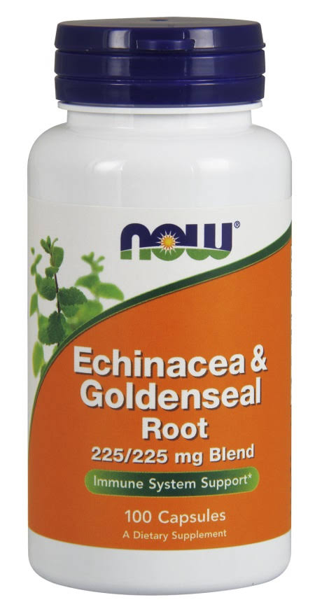 Now Foods Echinacea & Goldenseal Root - 100 Capsules