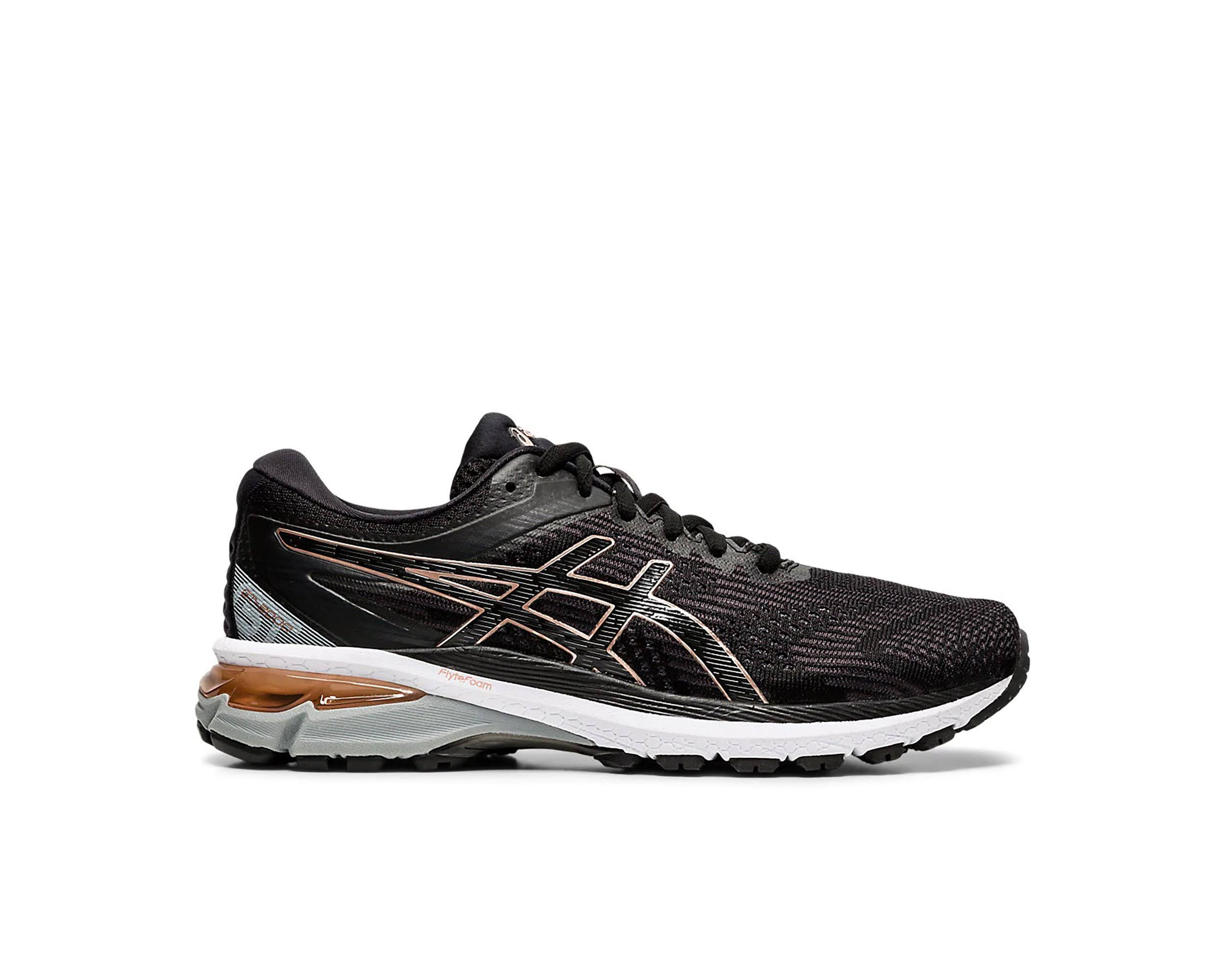Asics Women's GT 2000 8 - Black - Rose Gold - 8.5 - D