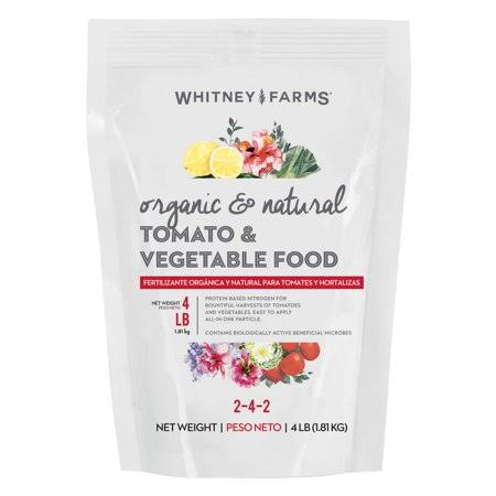 Whitney Farms Organic and Natural Dry Plant Food - Tomato and Vegetable, 4lb