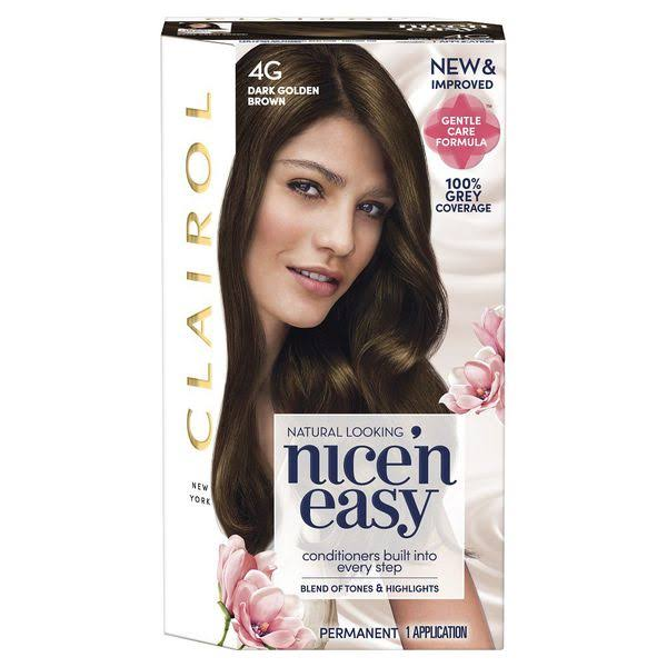 Clairol Nice n Easy Permanent Hair Dye - 4G Dark Golden Brown