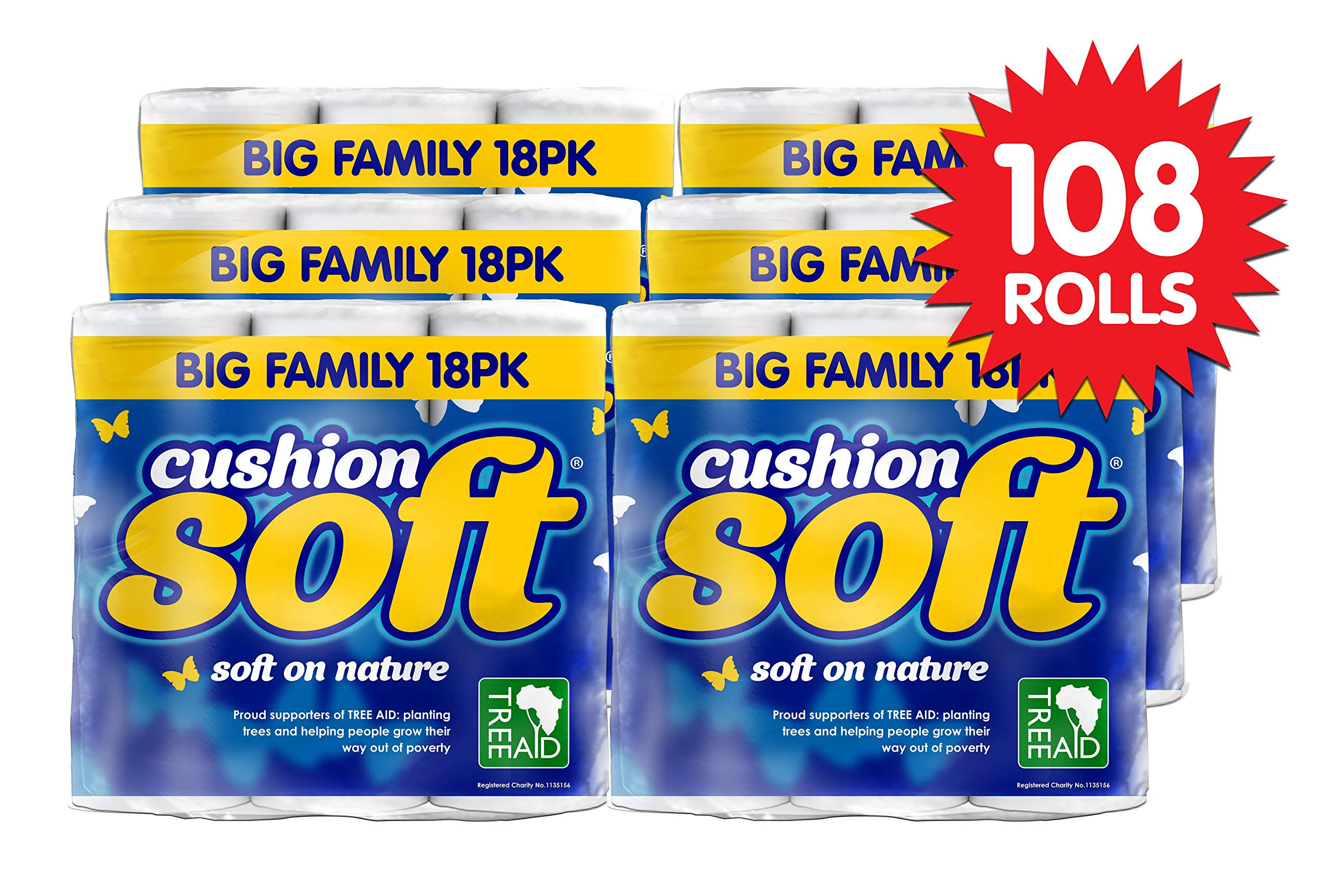 Cushion Soft Toilet Tissue Rolls 54pk