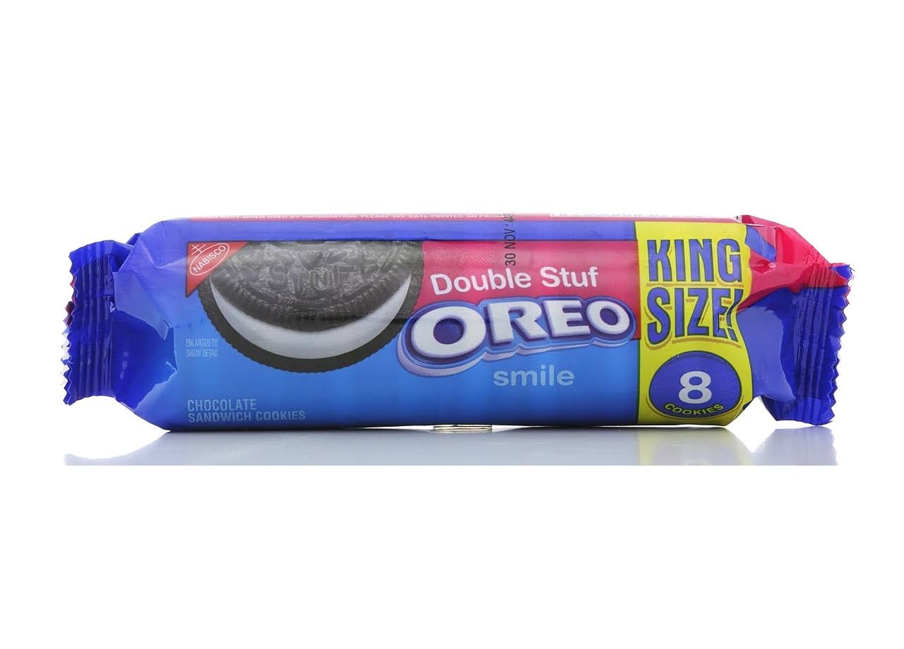 Oreo Double Stuff Chocolate King Size Sandwich Cookie - 8 ct