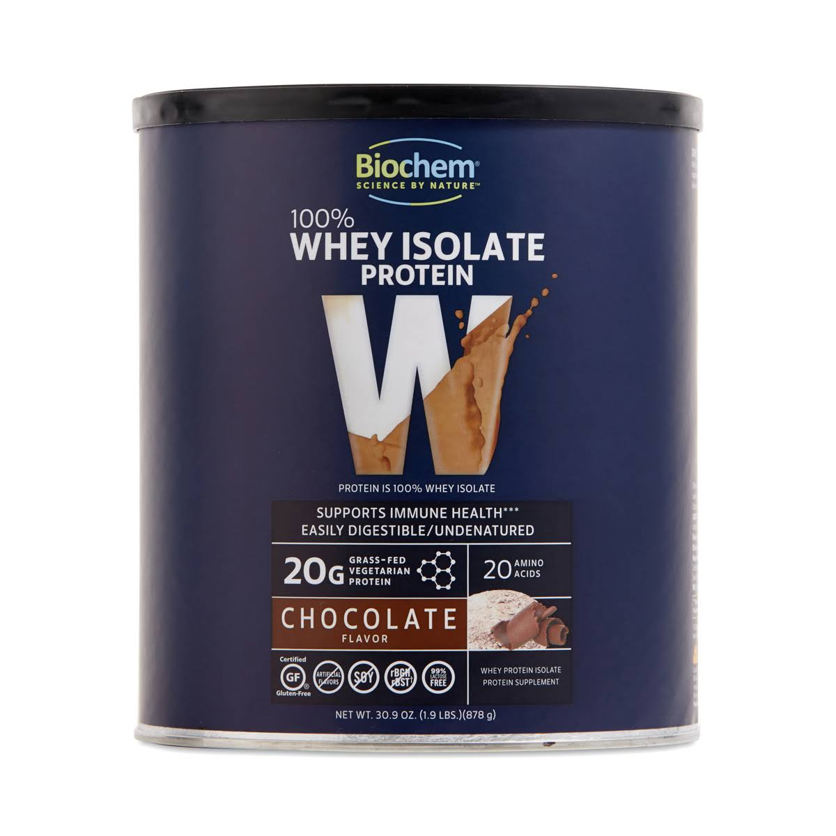 Biochem Sports Whey Protein Isolate Powder - Chocolate, 1.9lb