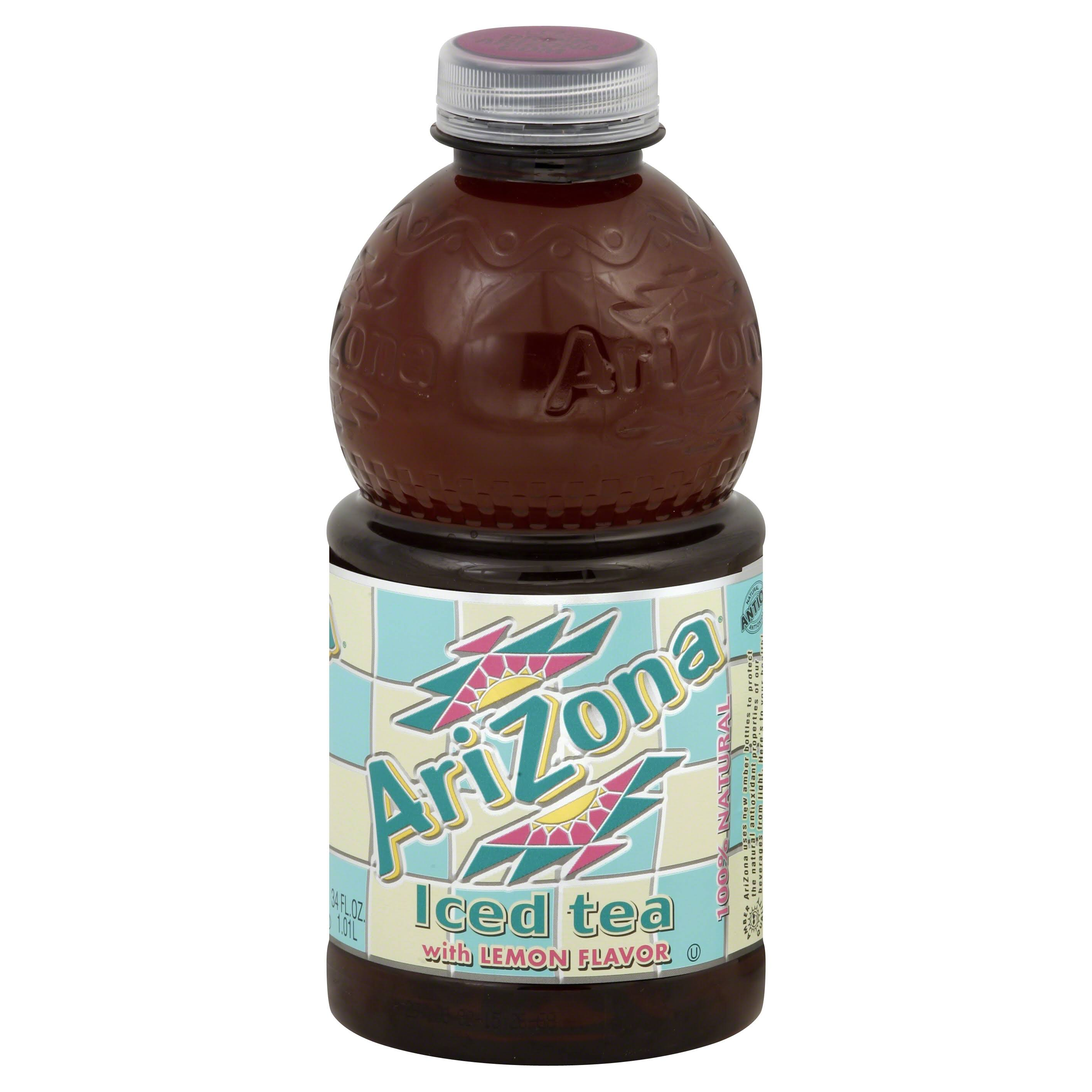 Arizona Iced Tea, with Lemon Flavor - 34 fl oz