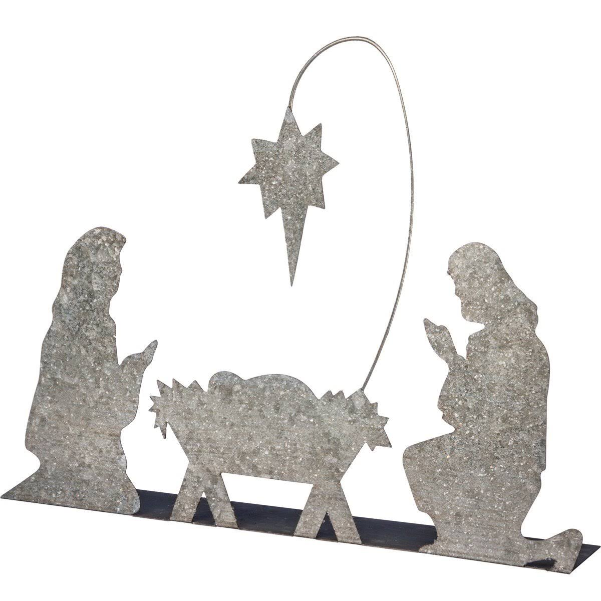 Primitives by Kathy Holy Family Nativity, Metal