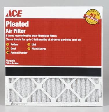 Ace 16 in. H x 16 in. W x 1 in. D Pleated 8 MERV Air Filter