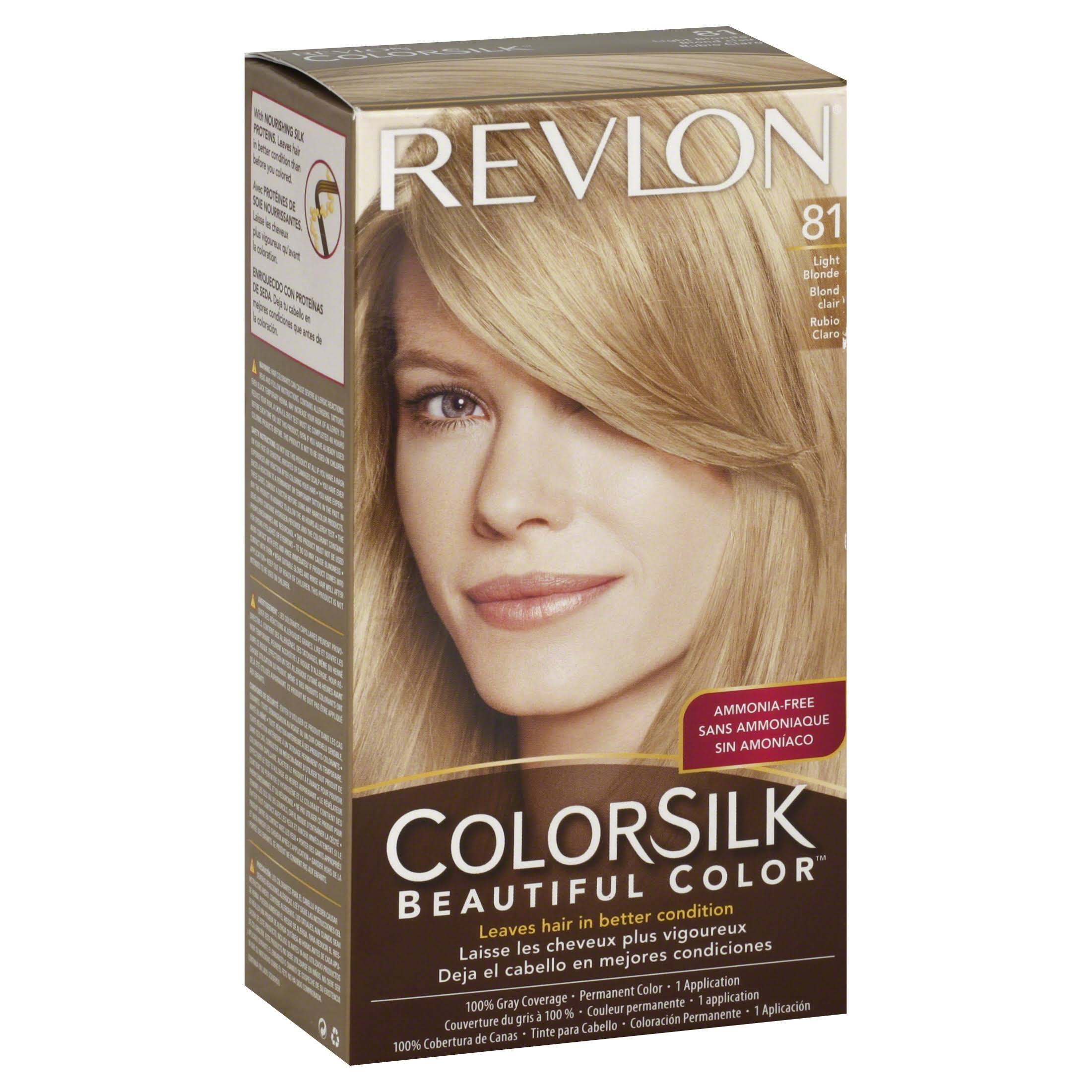 Revlon ColorSilk Beautiful Color Permanent Hair Color - 81 Light Blonde, 1 application