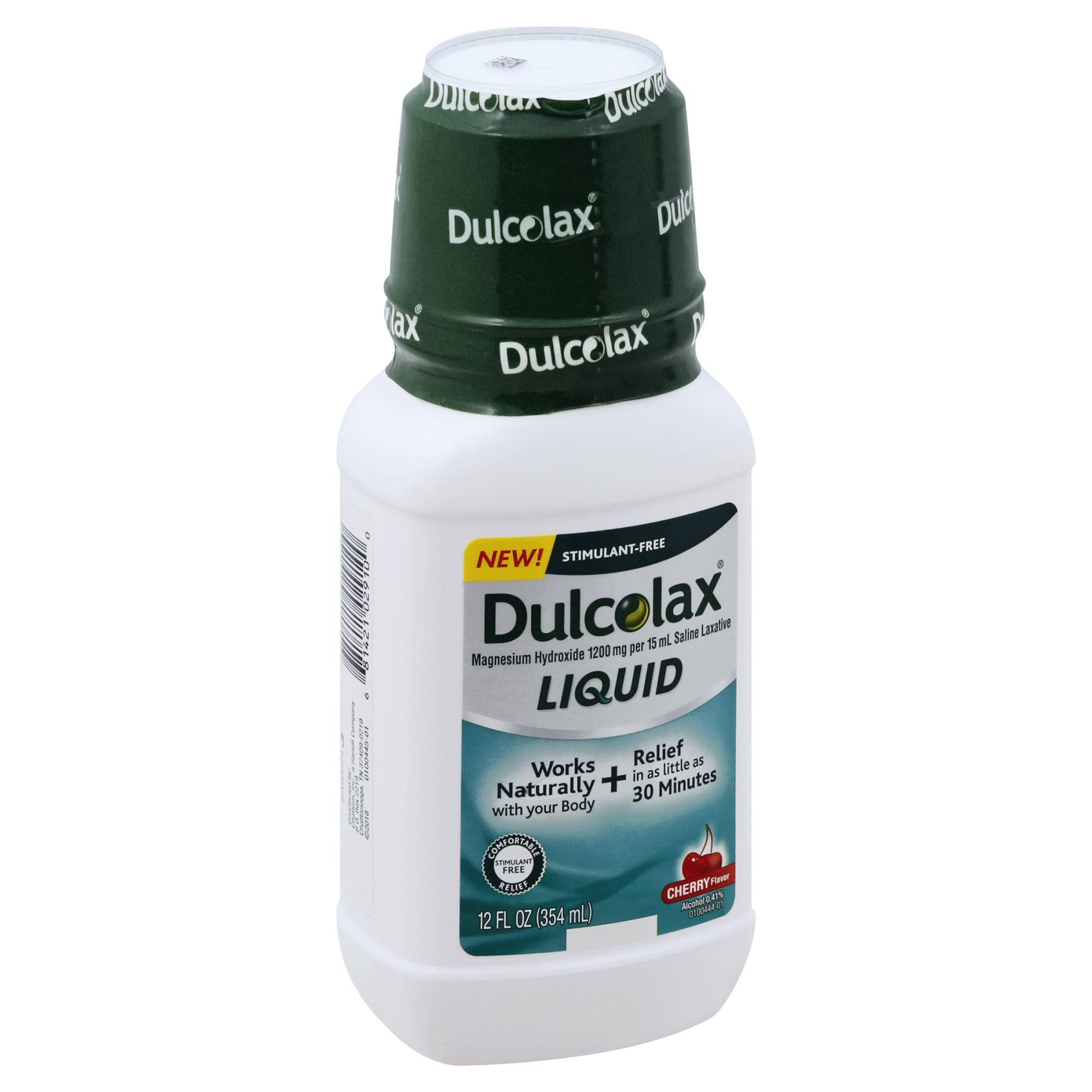 Dulcolax Constipation Relief, Cherry Flavor, Liquid - 12 fl oz