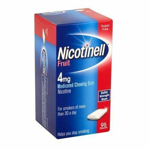 Nicotinell Fruit Medicated Chewing Gum - 4mg, 96 Pieces