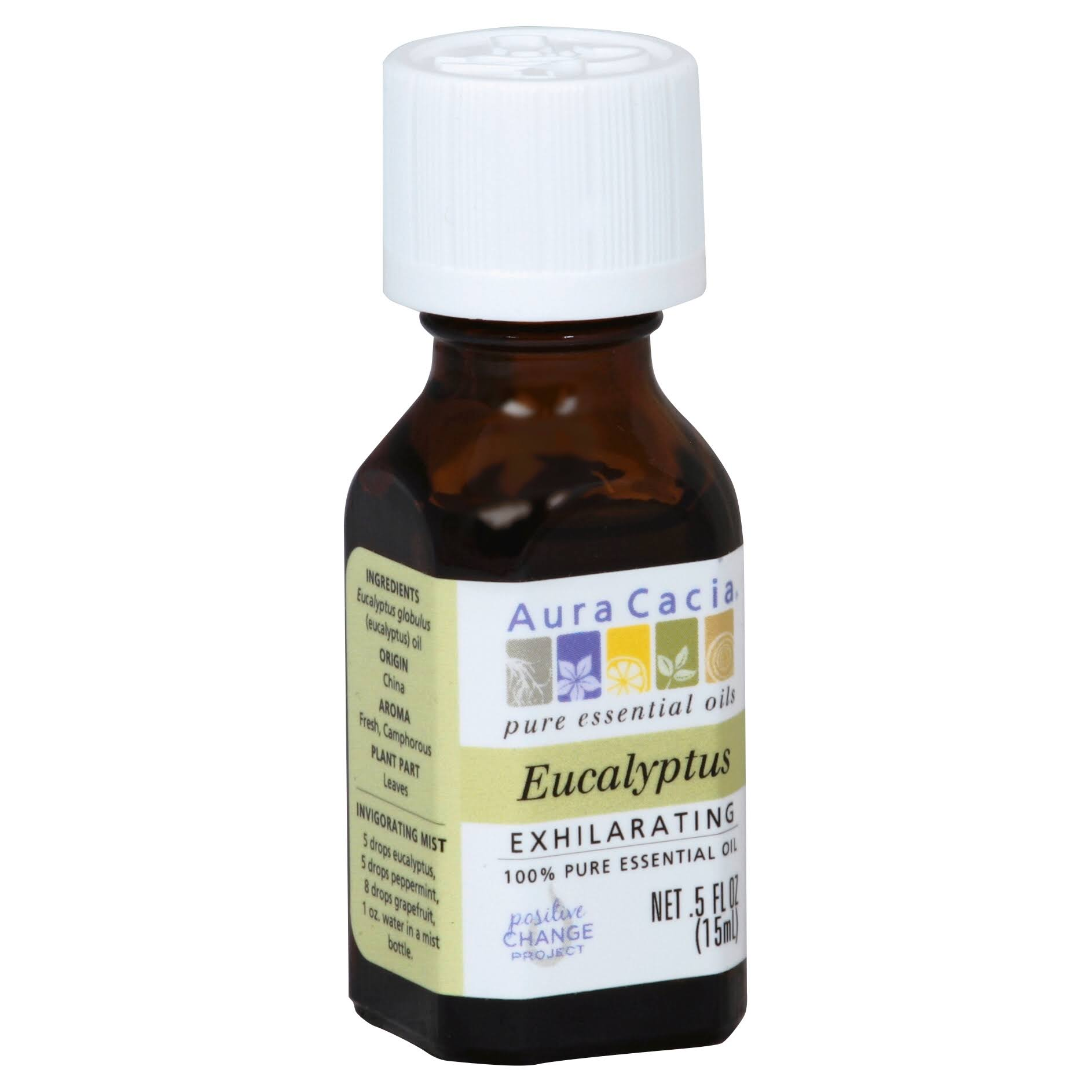 Aura Cacia Essential Oil - Eucalyptus, 75ml