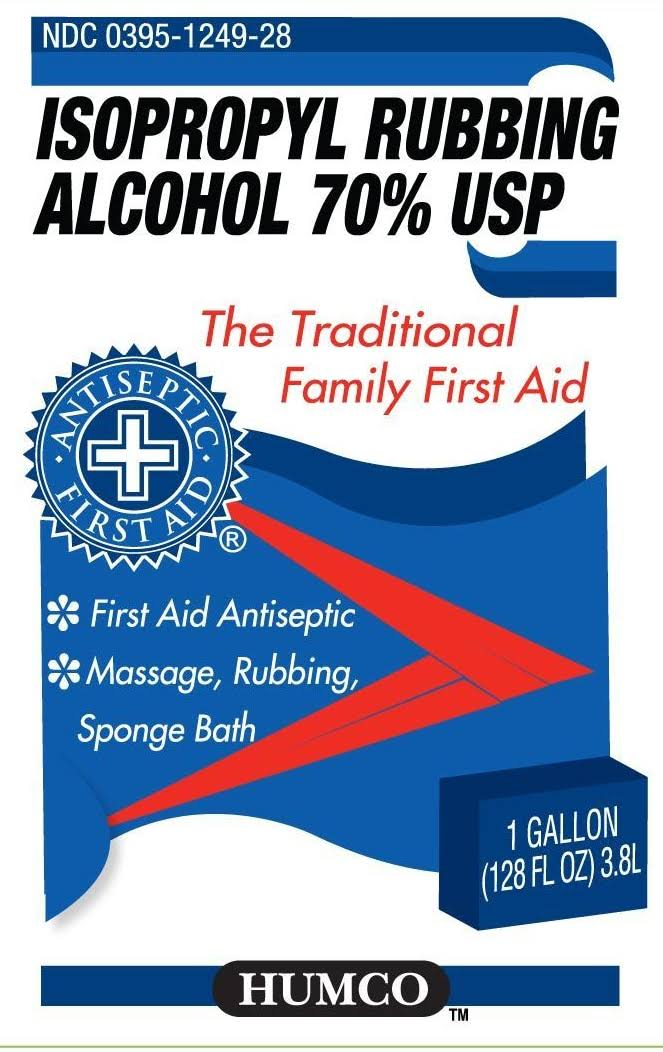 Humco Isopropyl Rubbing Alcohol 70% USP 16 fl oz, First Aid Antisepti