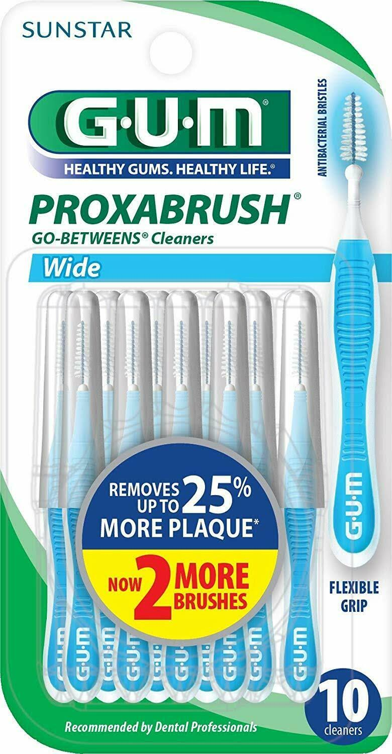 Sunstar Gum Proxabrush Go Betweens Cleaners - 10pcs