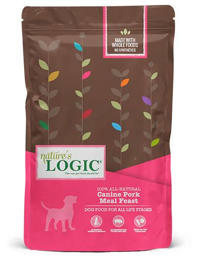 Nature's Logic Canine Pork Meal Feast Dry Dog Food - 26.4-lb