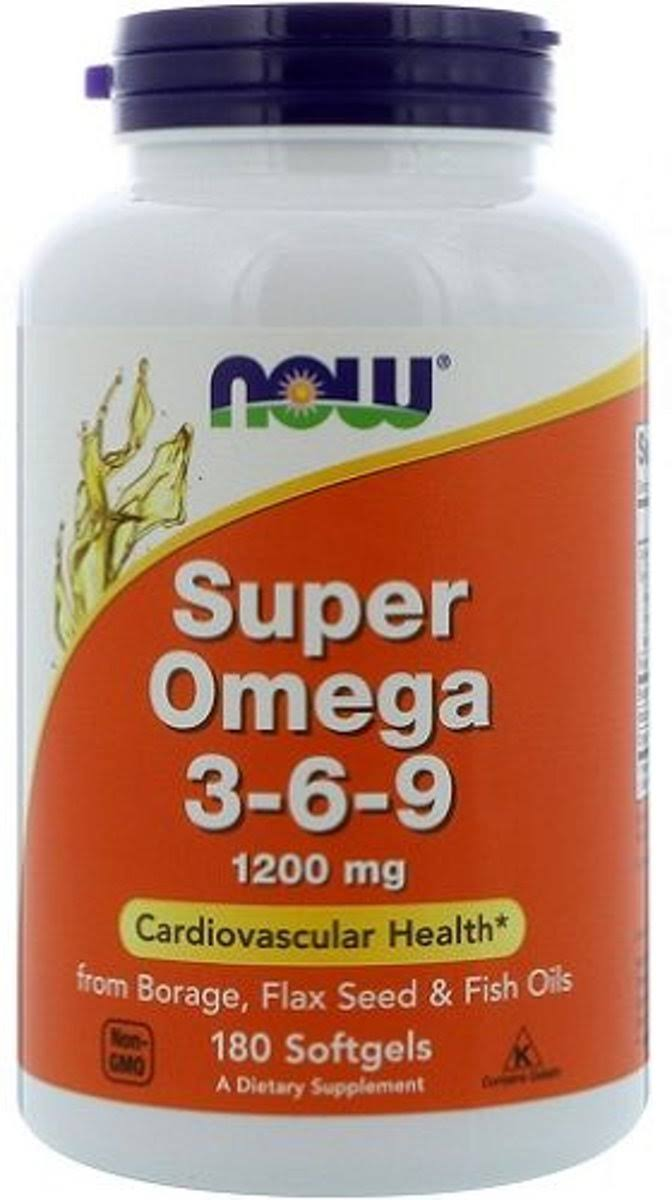 Now Foods Super Omega 3-6-9 - 1200mg, 180 Softgels
