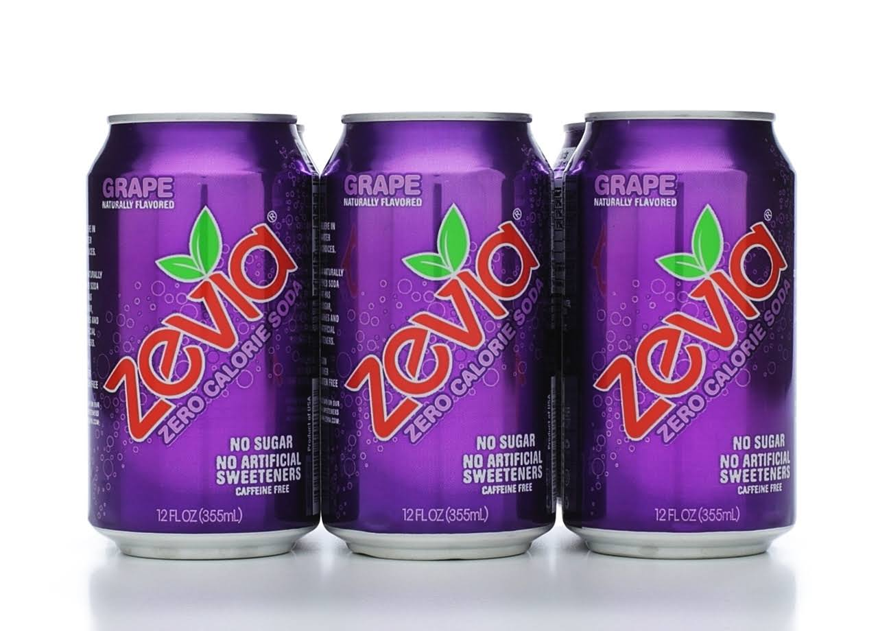 Zevia Zero Calorie Soda Grape - 6 Pack