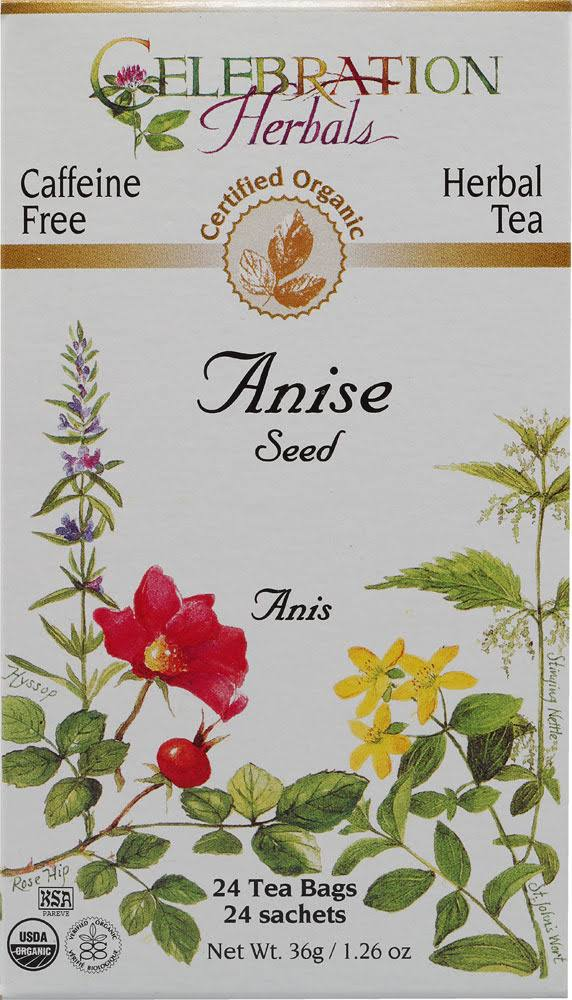 Celebration Herbals Organic Caffeine Free Anise Seed Tea - 24 Herbal Tea Bags