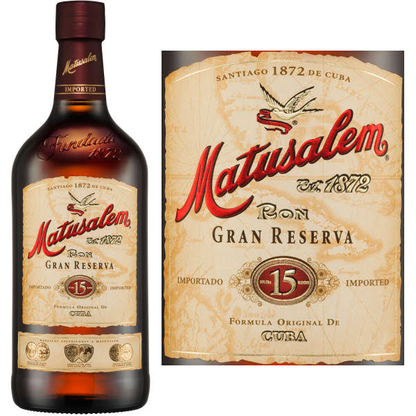 Ron Matusalem 15 Year Old Gran Reserva Rum - 750 ml bottle