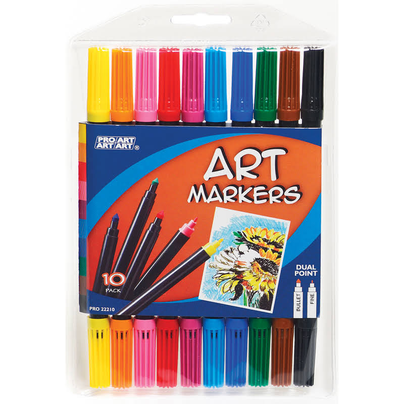 Pro Art Dual Point Art Marker Set 10/Pkg