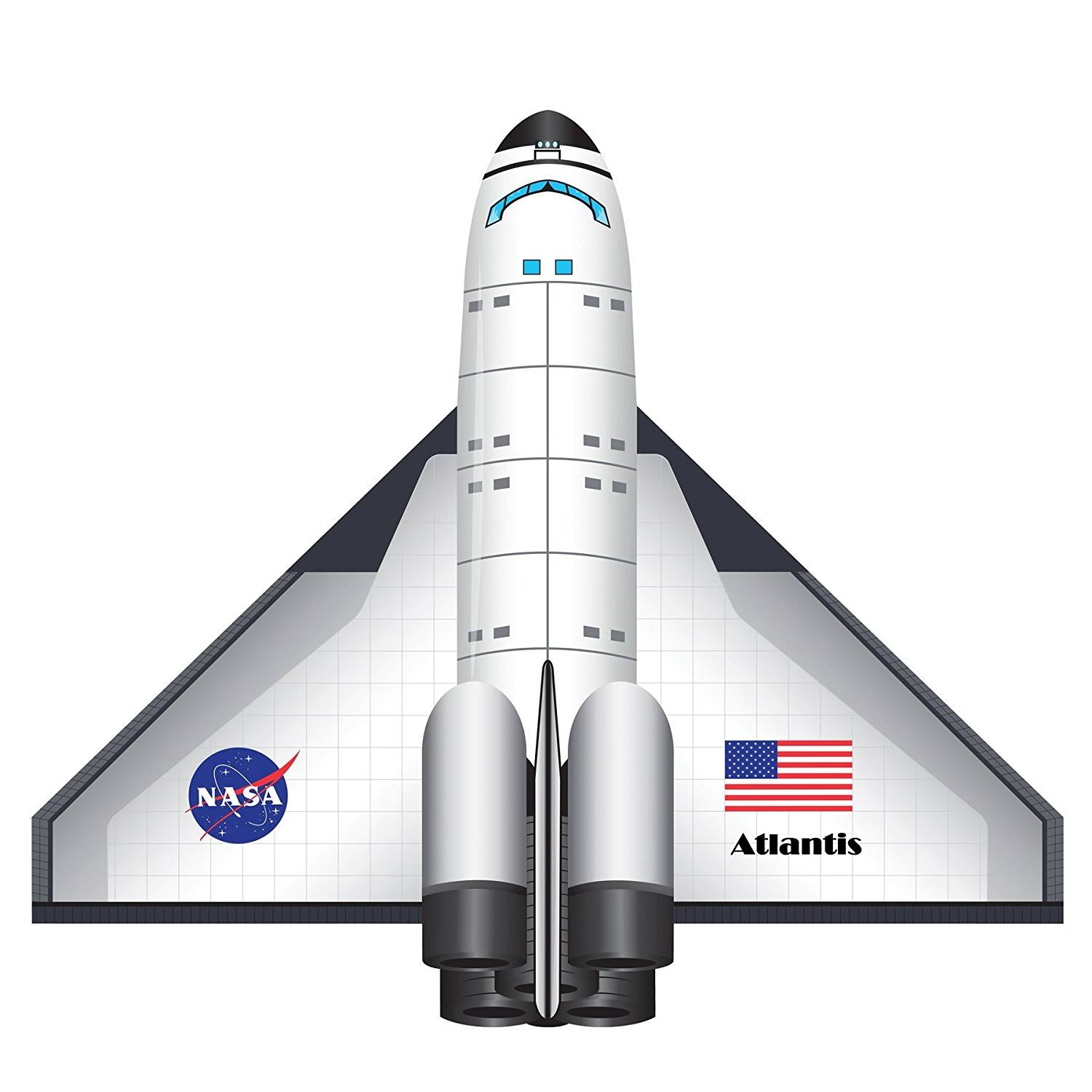 BrainStorm WNS FlightZone Space Shuttle Atlantis Kite - 52""