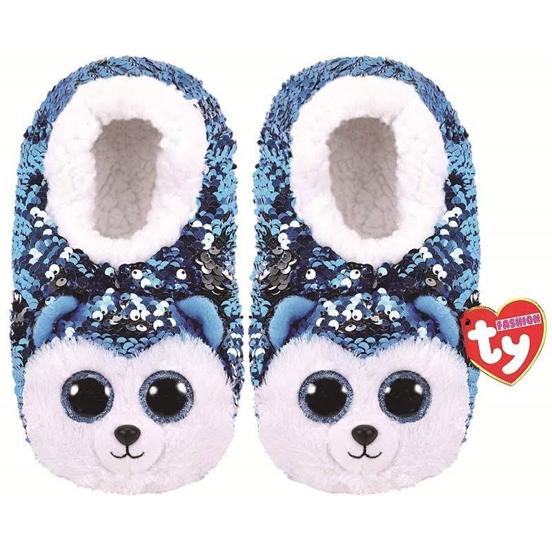 Ty Plush Sequin Slush Husky Slippers