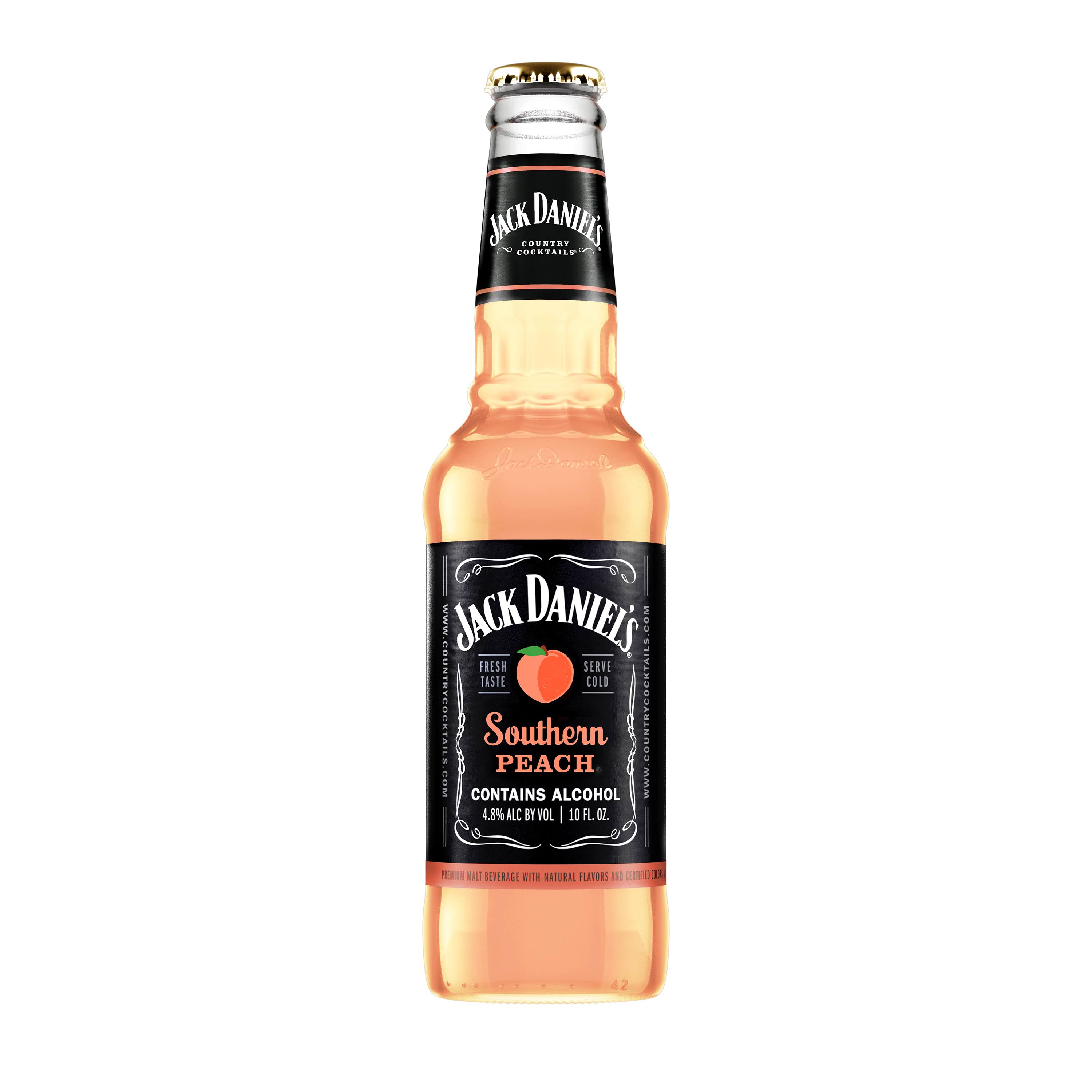 Jack Daniels Country Cocktails Southern Peach Beer, Flavored Malt Beverage - 10 oz