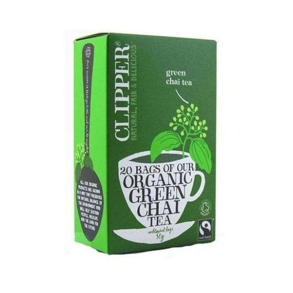 Clipper Fairtrade Organic Chai Green Tea - 50g