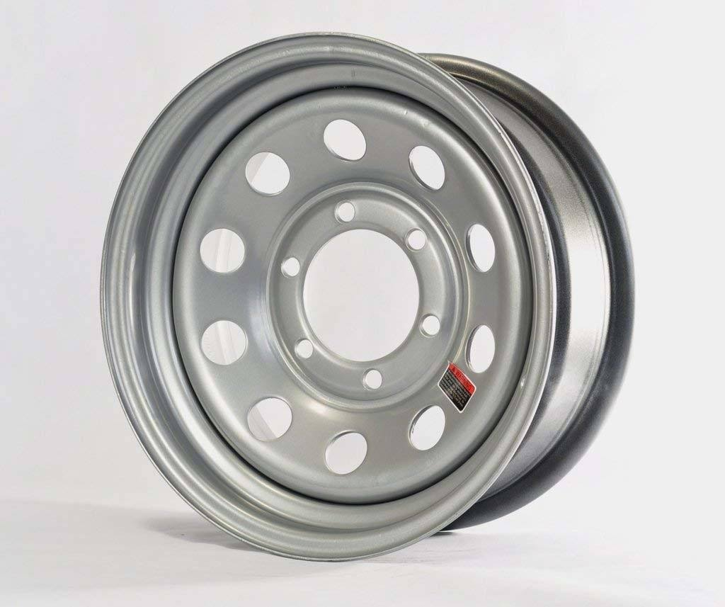 Americana - 15x6 Trailer Wheel Mini Modular 6H-5.5 Silver
