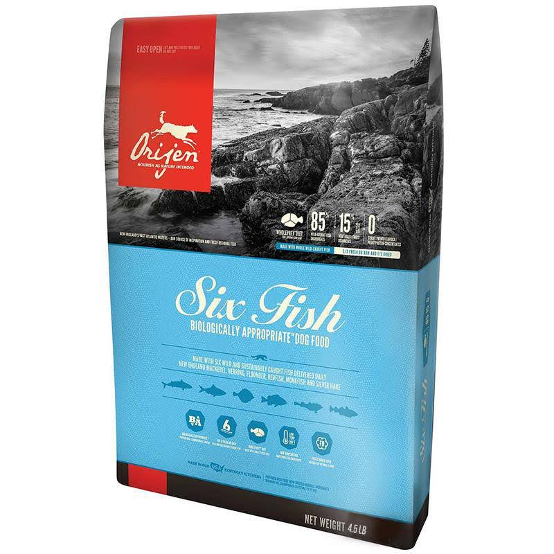 ORIJEN Six Fish Dry Dog Food, 25 lbs