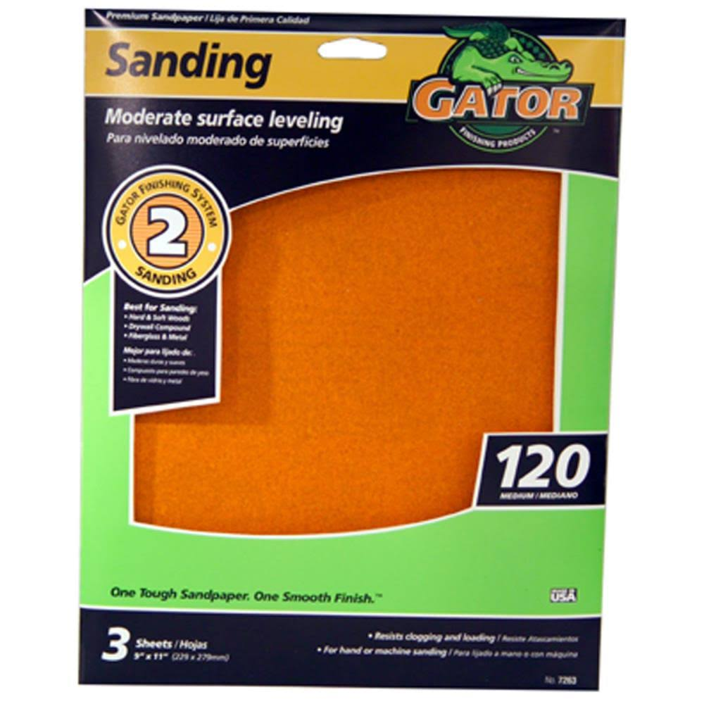 "Ali Industries Sandpaper Sheet - 9"" X 11"", 120 grit"