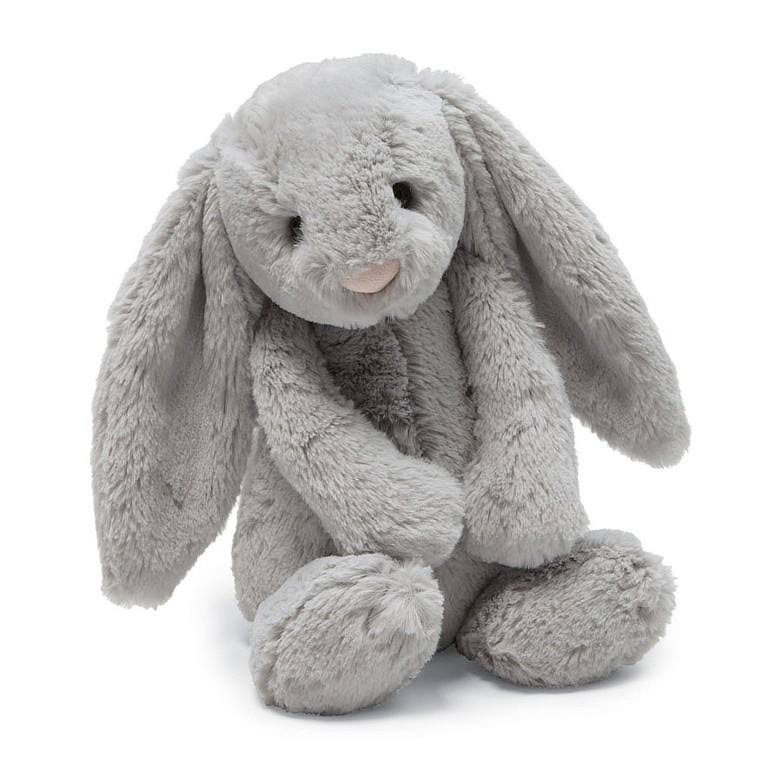 Jellycat Bashful Large Stuffed Animal Plush Toy - Grey Bunny, 14""