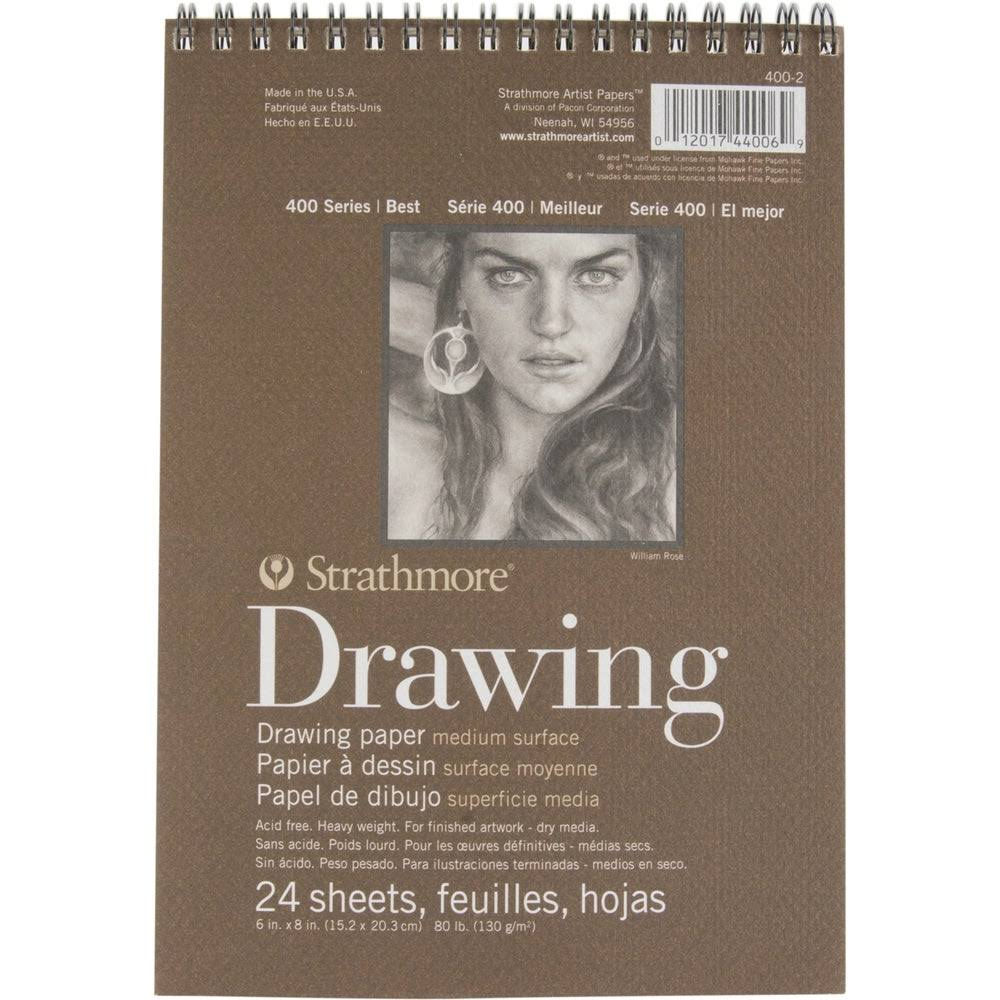 "Strathmore Drawing Paper Pad - Medium, 6"" X 8"", 24 Sheets"