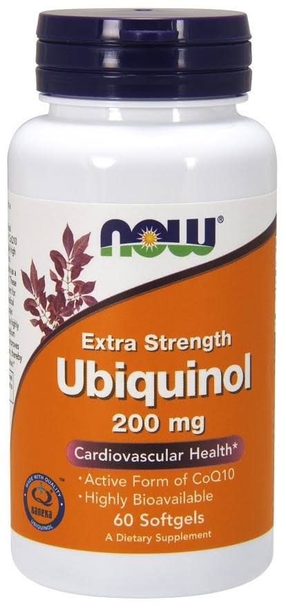 Now Foods Ubiquinol - 200mg, 60 ct