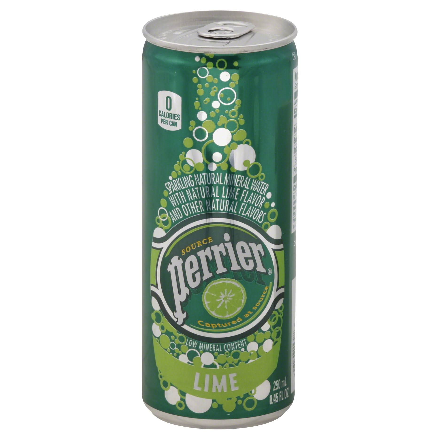 Perrier Sparkling Natural Mineral Water - Lime, 250ml