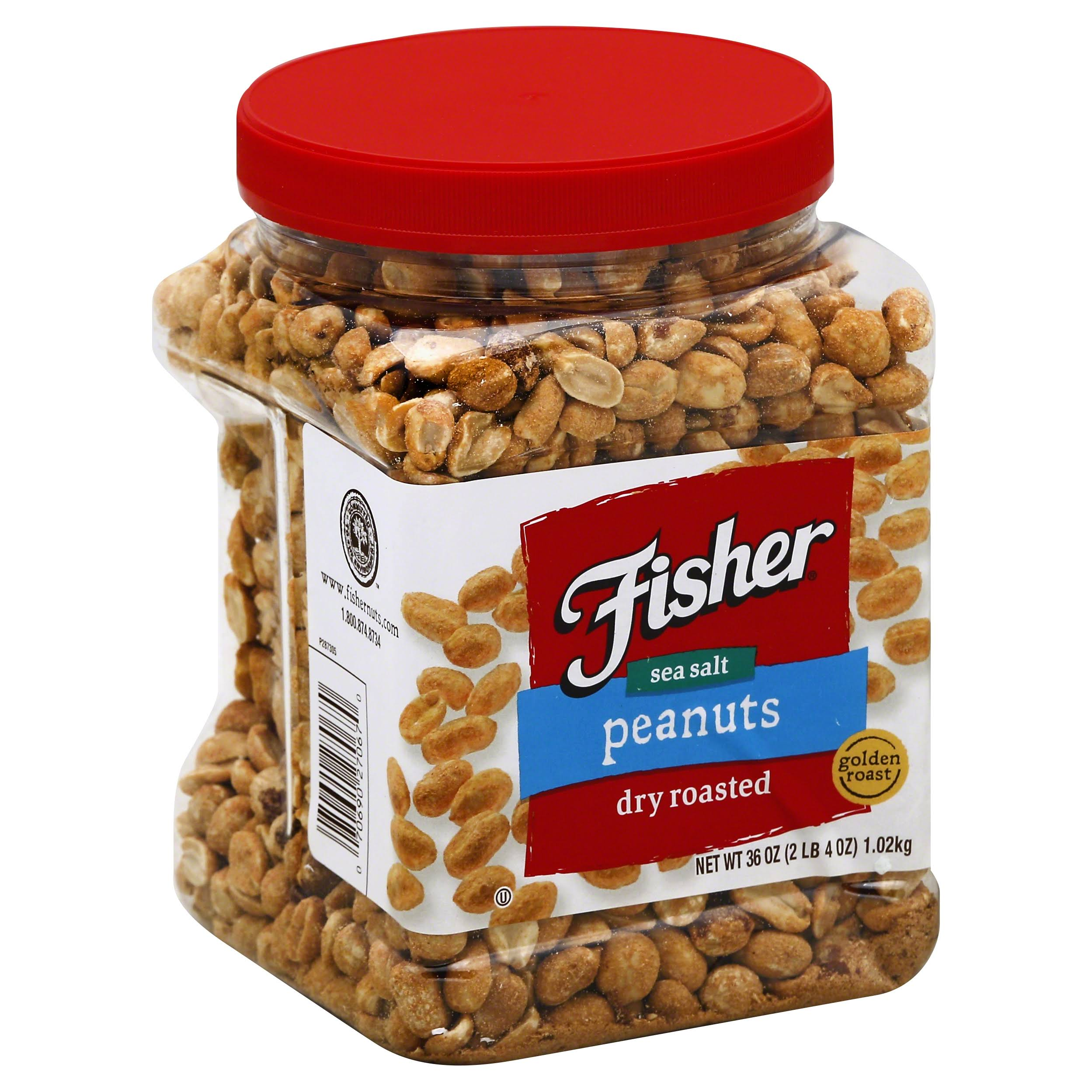 Fisher Dry Roasted Peanuts - Sea Salt, 36oz