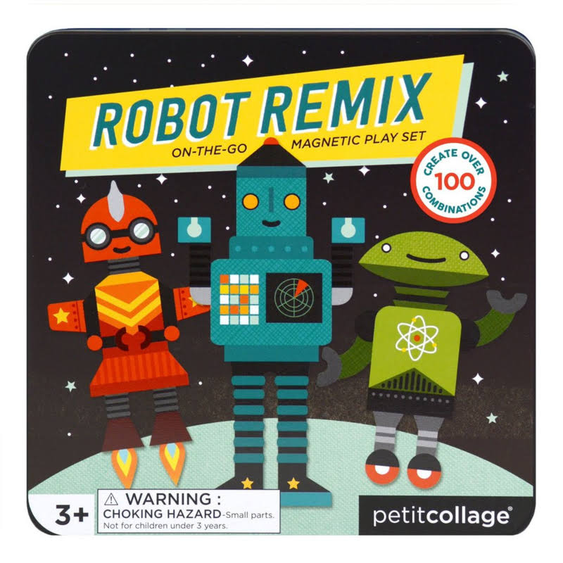 Petit Collage On-The-Go Magnetic Play Set Robot